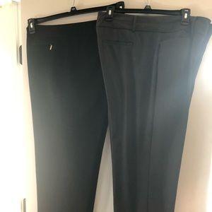Two pair size 16  dress slacks in black & gray.